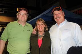 Damon Scaggs, Ginger Dager and Jim Dager at Peddinghaus event