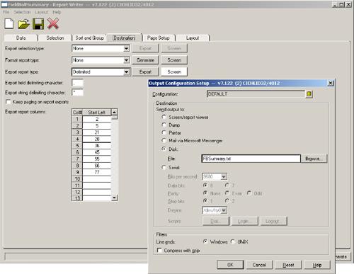 Output Configuration Setup