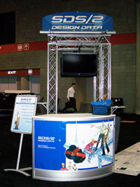 Design Data booth at the 2008 NASCC